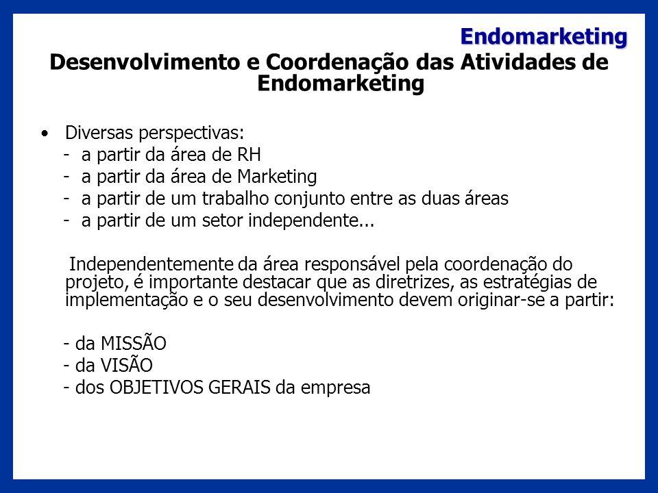 Desenvolvimento e Coordenação das Atividades de Endomarketing