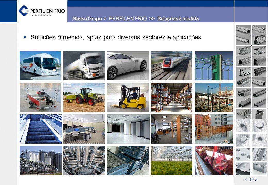 Soluções à medida, aptas para diversos sectores e aplicações