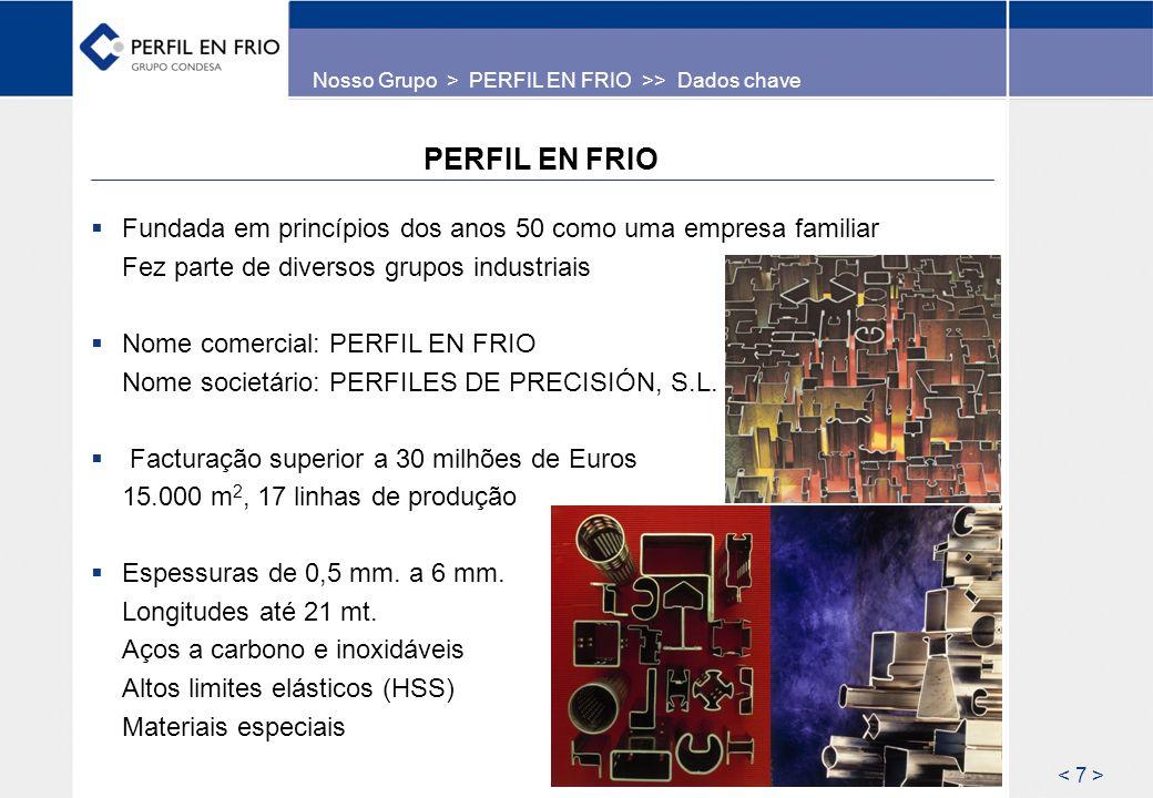 Nosso Grupo > PERFIL EN FRIO >> Dados chave