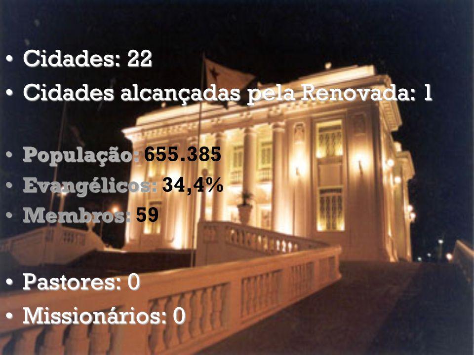 Cidades alcançadas pela Renovada: 1
