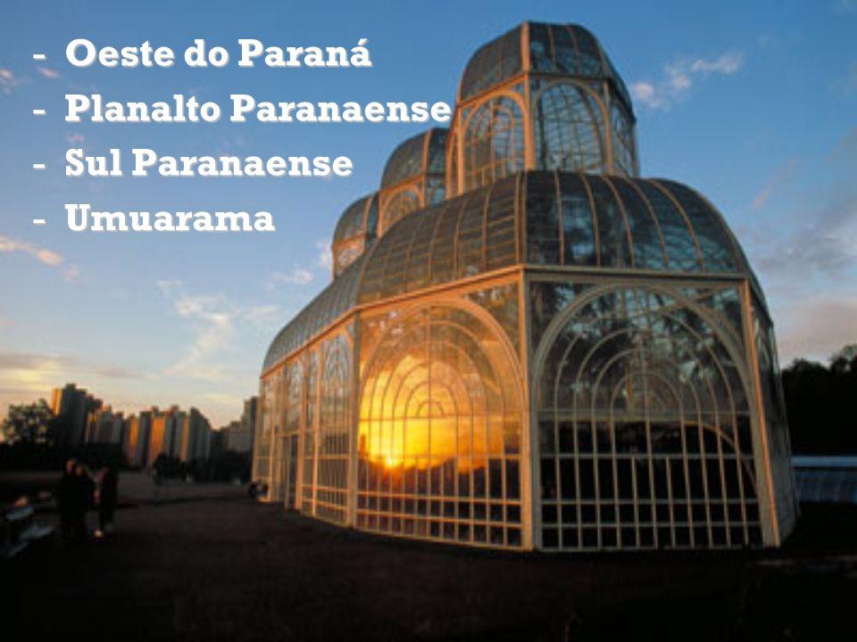 Oeste do Paraná Planalto Paranaense Sul Paranaense Umuarama