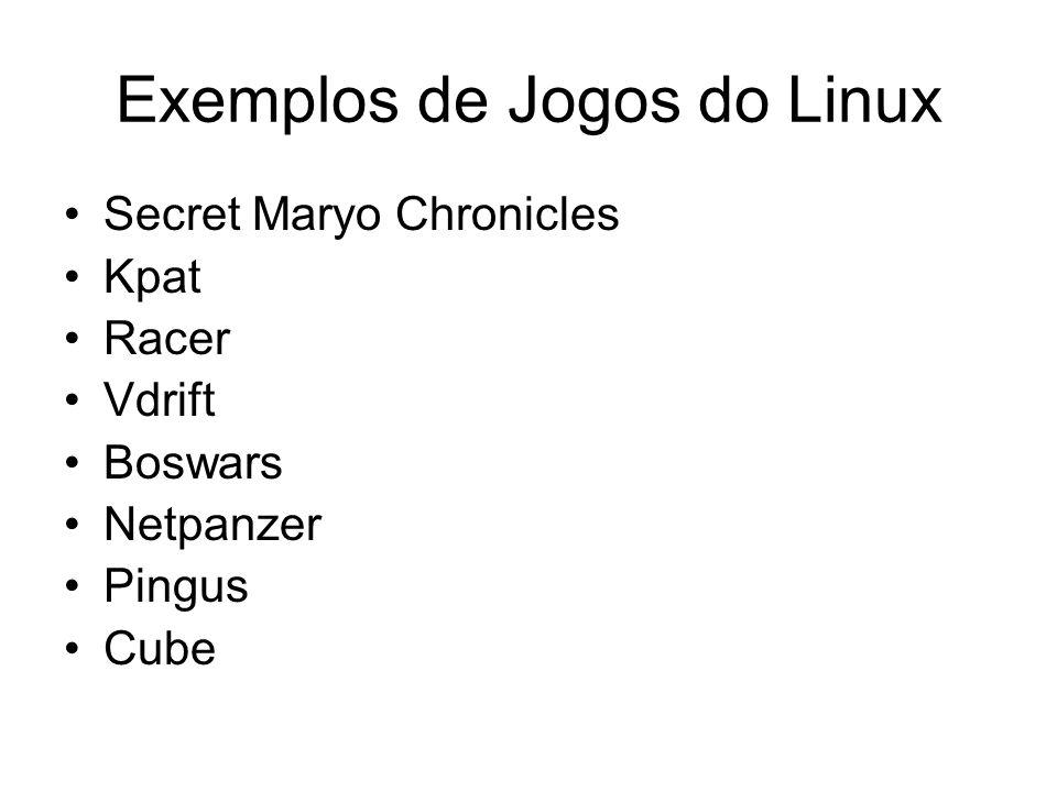 Exemplos de Jogos do Linux