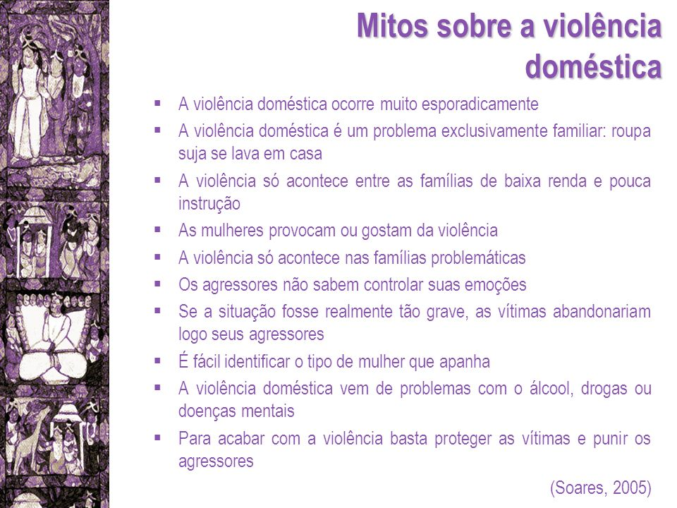 Mitos sobre a violência doméstica