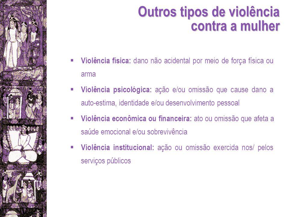 Outros tipos de violência contra a mulher
