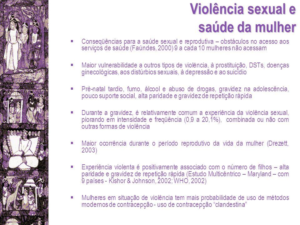 Violência sexual e saúde da mulher