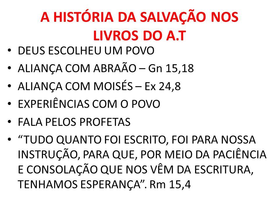 A HISTÓRIA DA SALVAÇÃO NOS LIVROS DO A.T