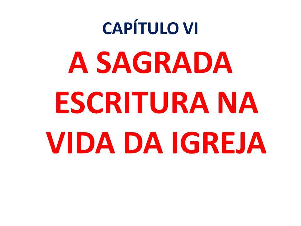 A SAGRADA ESCRITURA NA VIDA DA IGREJA
