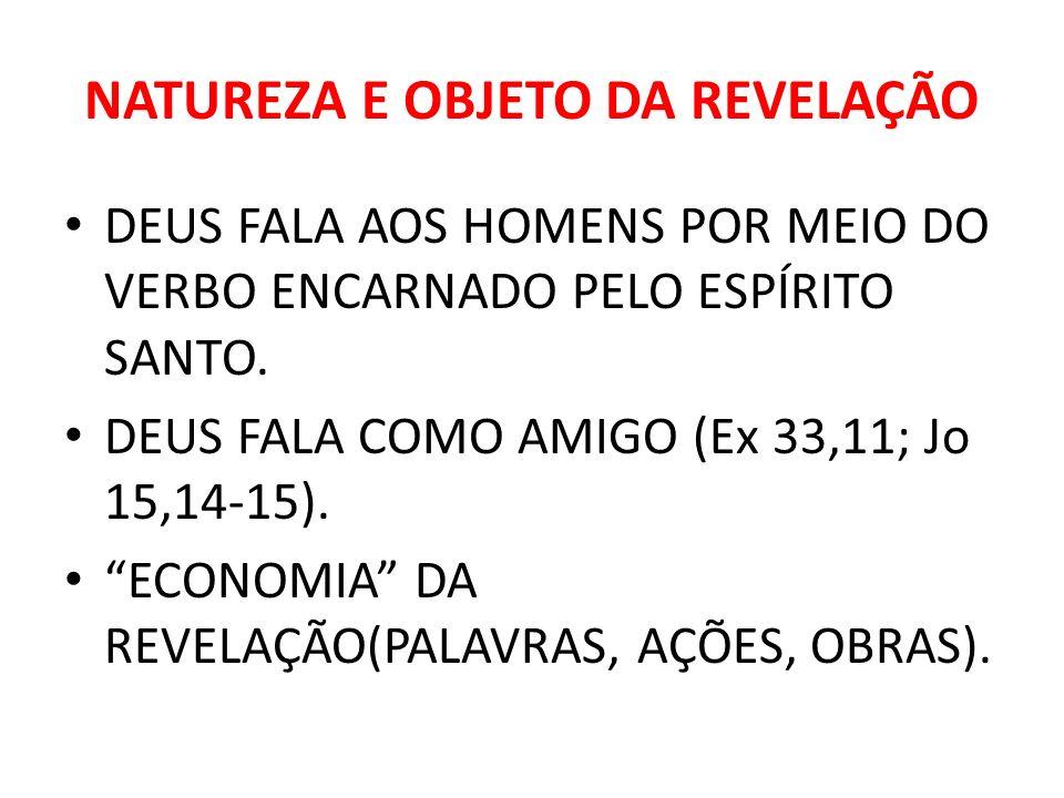 NATUREZA E OBJETO DA REVELAÇÃO