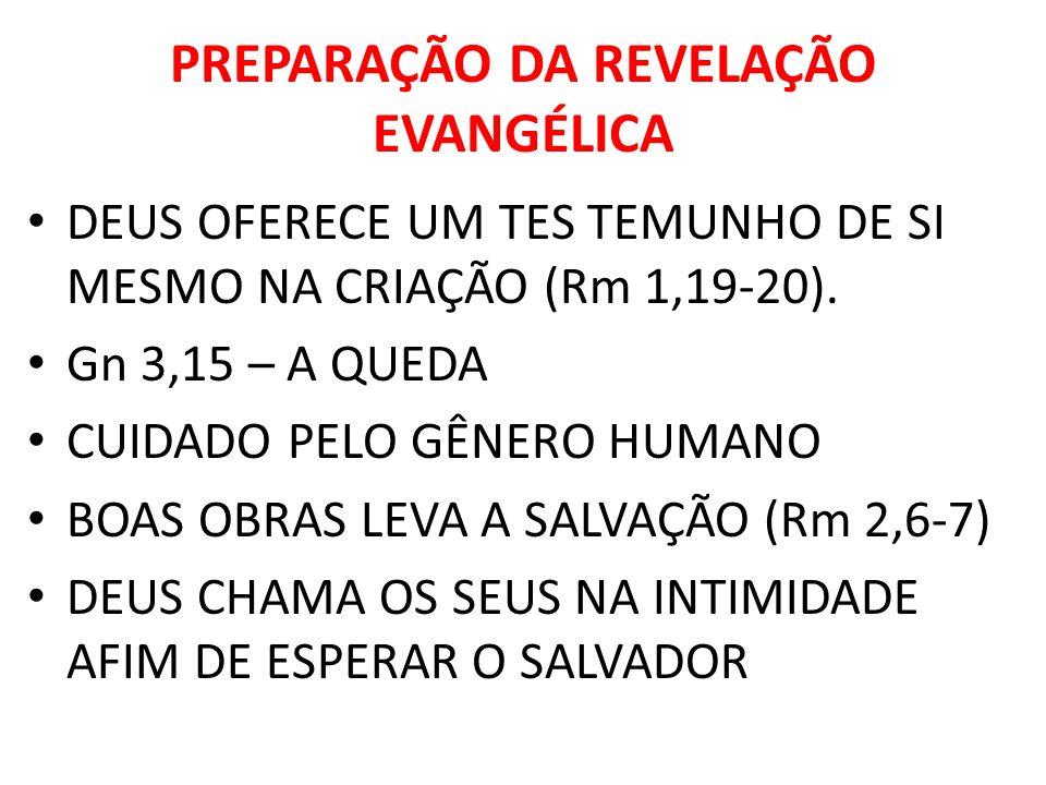 PREPARAÇÃO DA REVELAÇÃO EVANGÉLICA