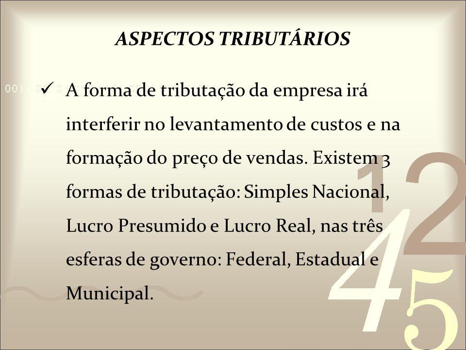 ASPECTOS TRIBUTÁRIOS