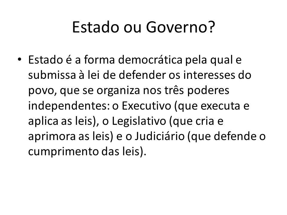 Estado ou Governo