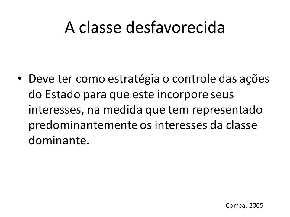 A classe desfavorecida