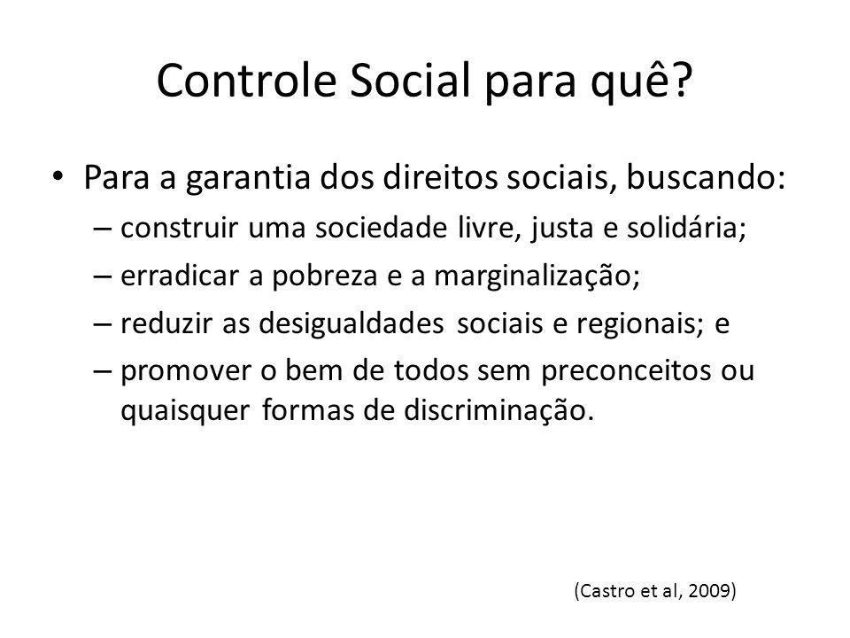 Controle Social para quê