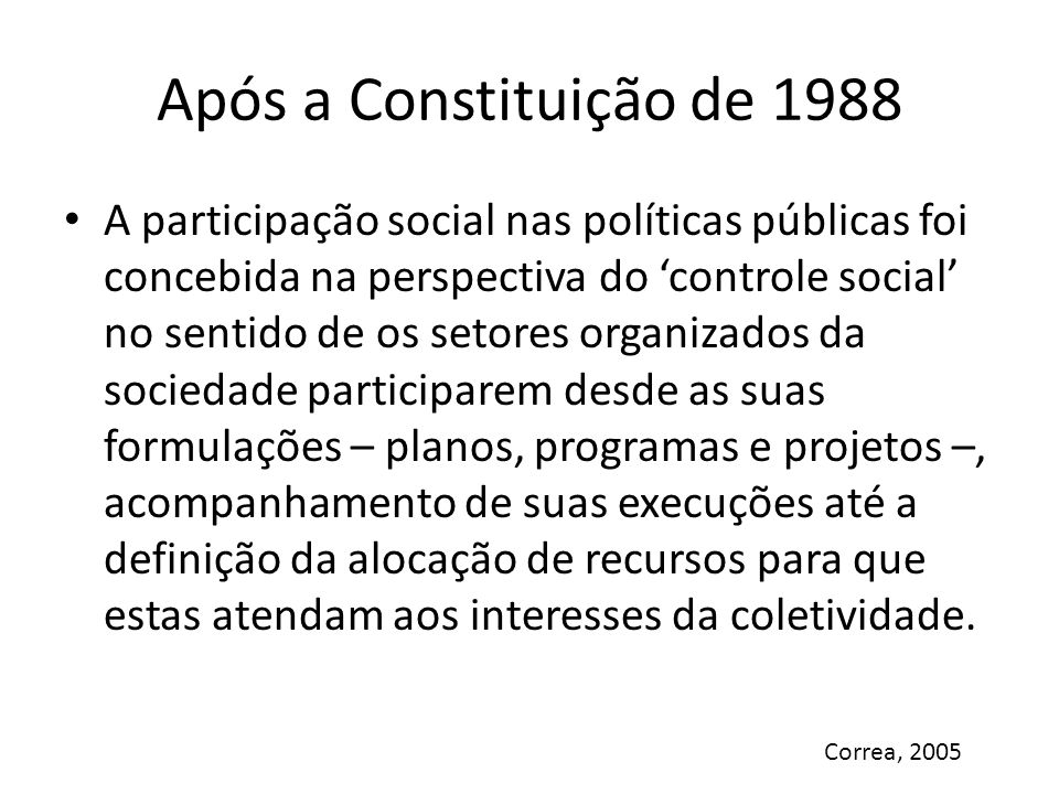 Após a Constituição de 1988