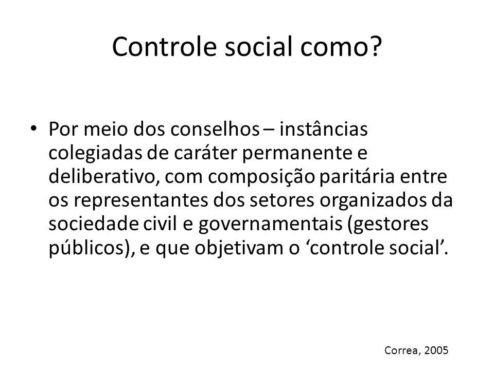 Controle social como