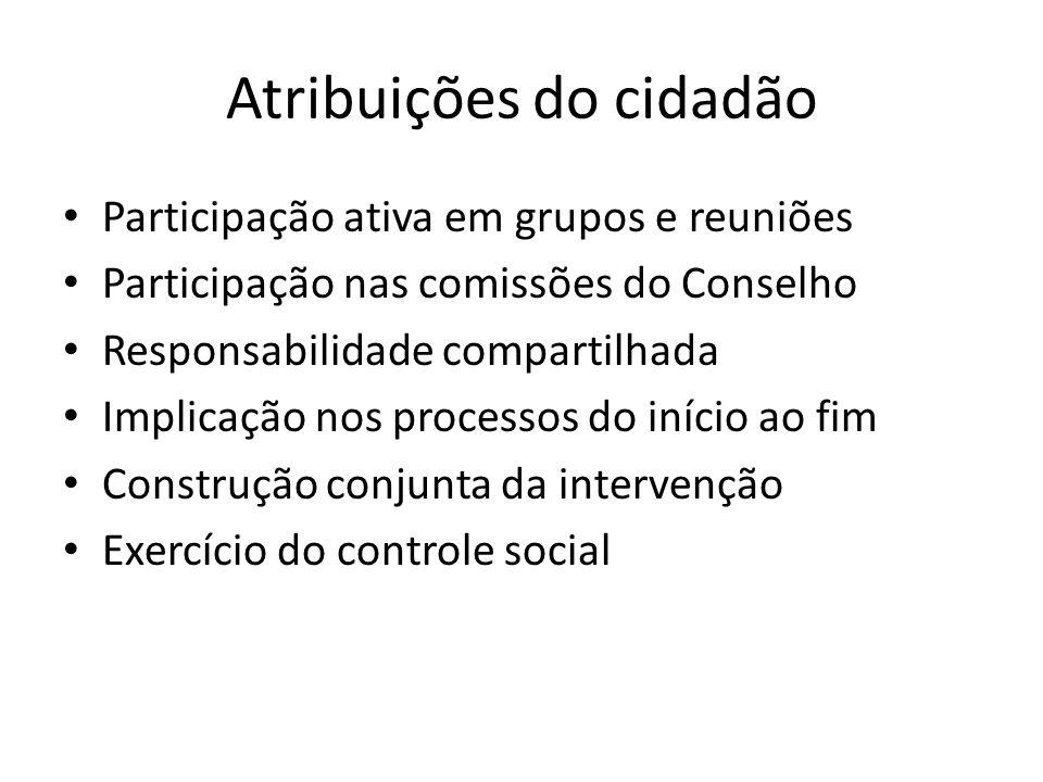 Atribuições do cidadão