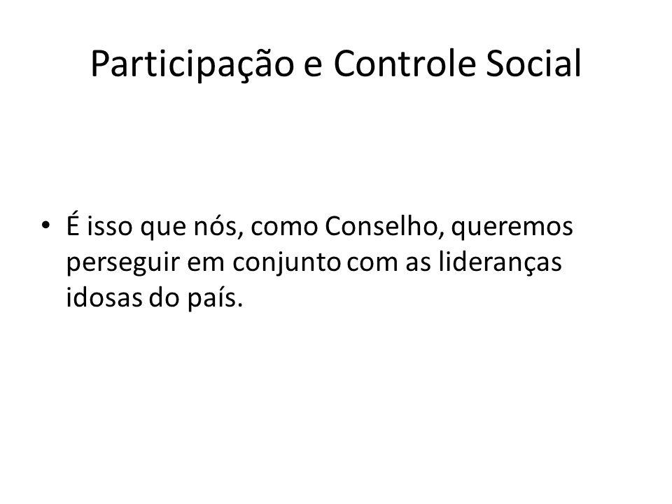Participação e Controle Social