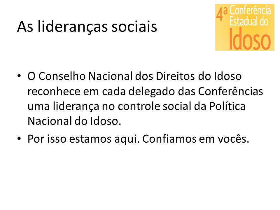 As lideranças sociais