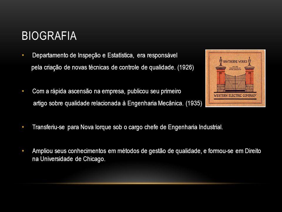 biografia Departamento de Inspeção e Estatística, era responsável