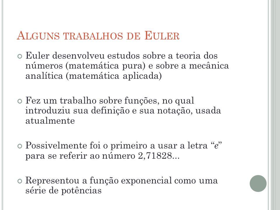 Alguns trabalhos de Euler
