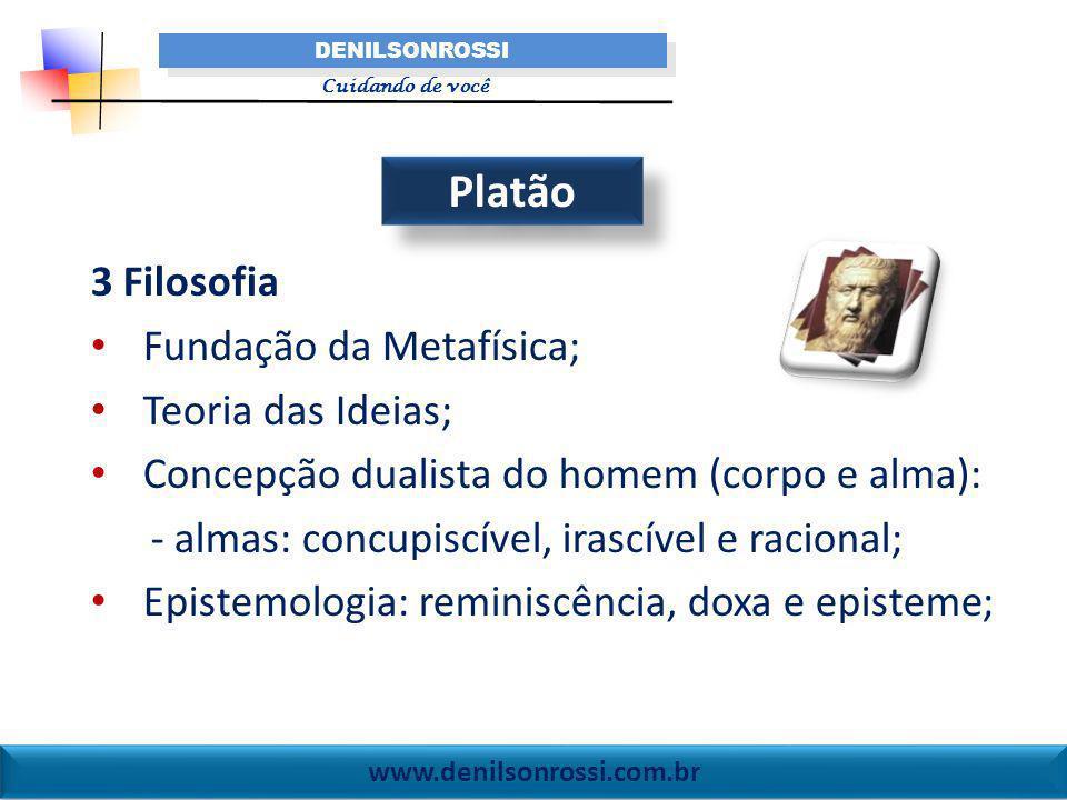 Platão 3 Filosofia Fundação da Metafísica; Teoria das Ideias;