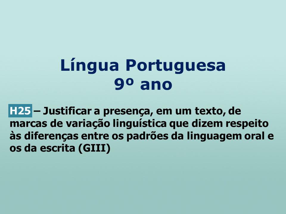 Língua Portuguesa 9º ano
