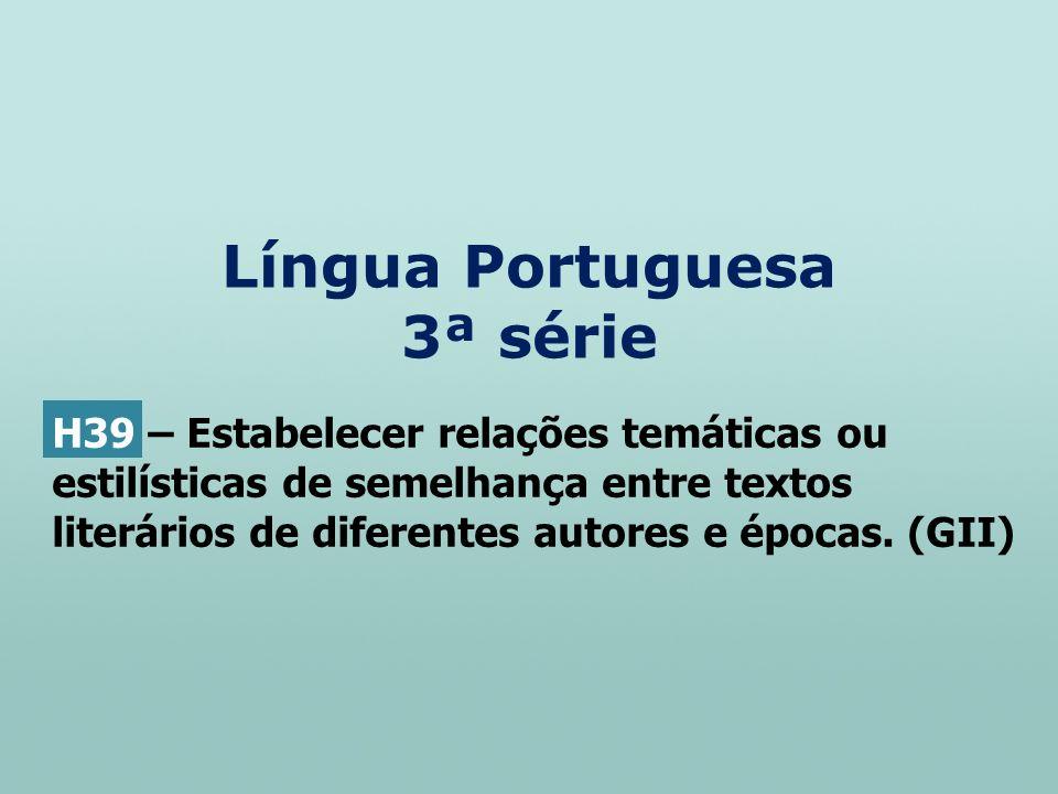 Língua Portuguesa 3ª série