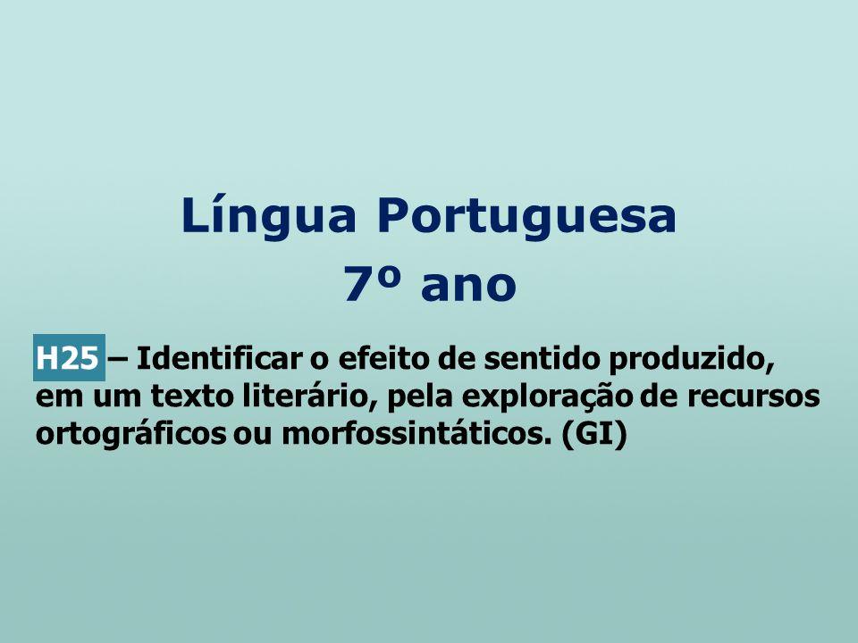Língua Portuguesa 7º ano
