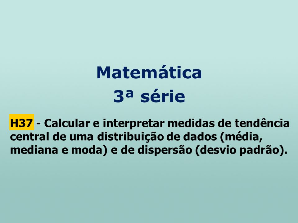Matemática 3ª série.
