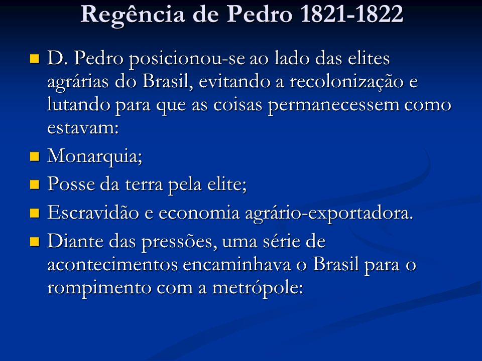 Regência de Pedro 1821-1822