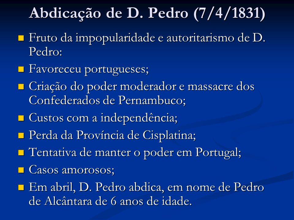 Abdicação de D. Pedro (7/4/1831)