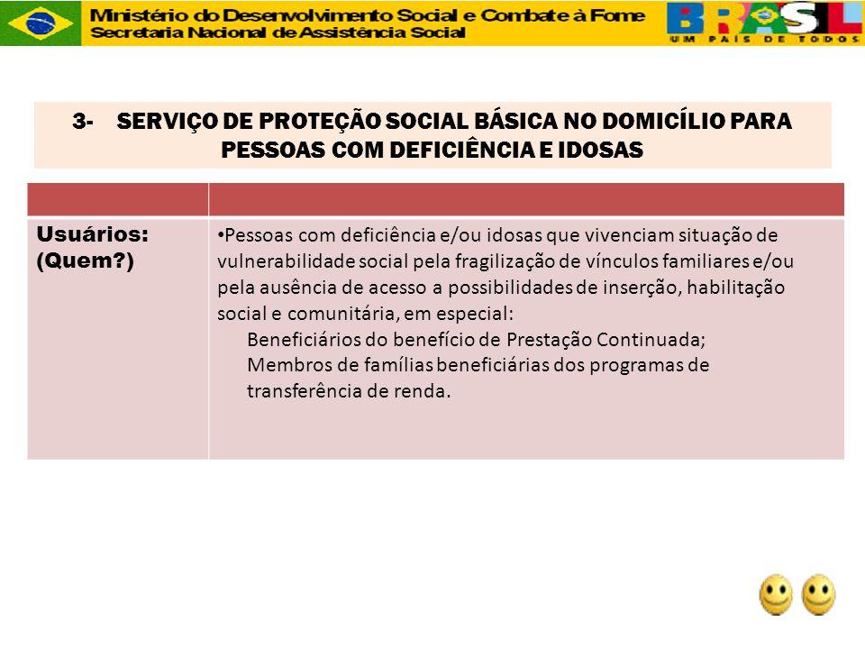 3- SERVIÇO DE PROTEÇÃO SOCIAL BÁSICA NO DOMICÍLIO PARA PESSOAS COM DEFICIÊNCIA E IDOSAS