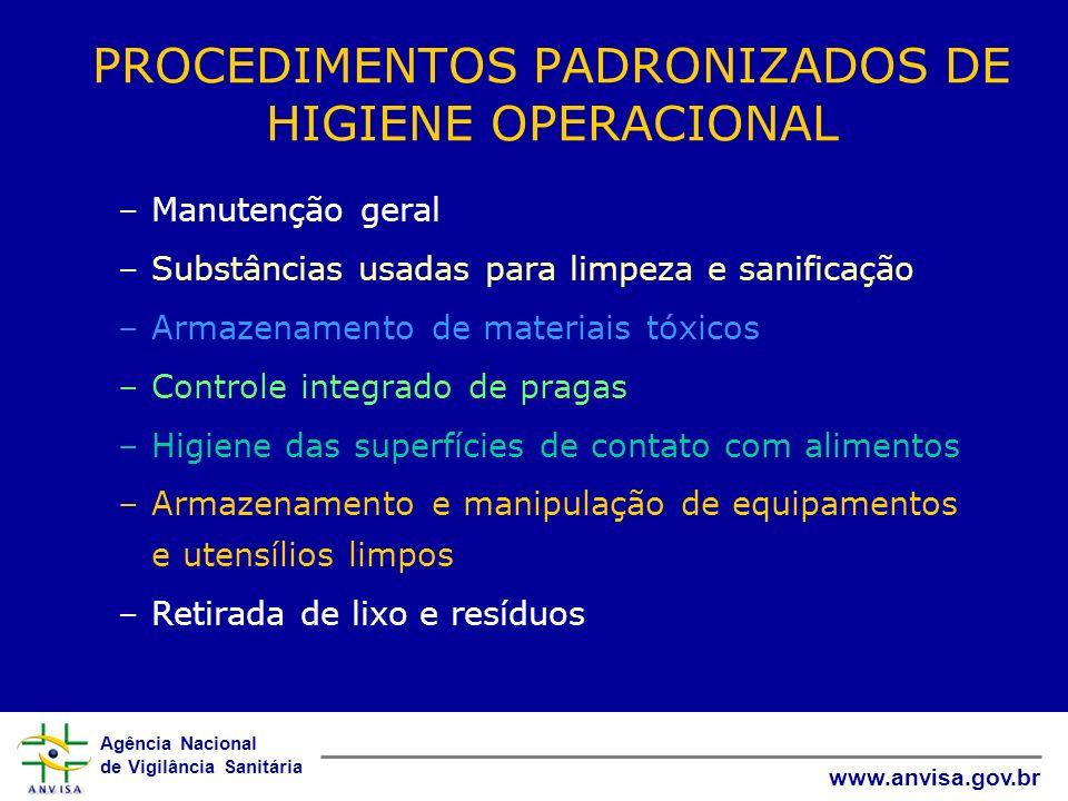 PROCEDIMENTOS PADRONIZADOS DE HIGIENE OPERACIONAL