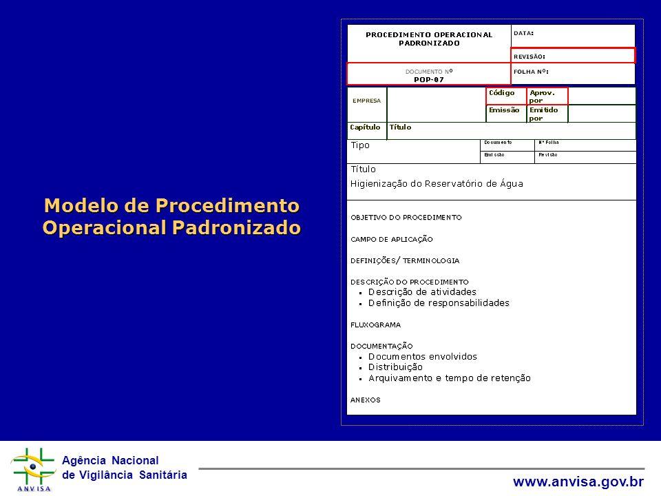 Modelo de Procedimento Operacional Padronizado