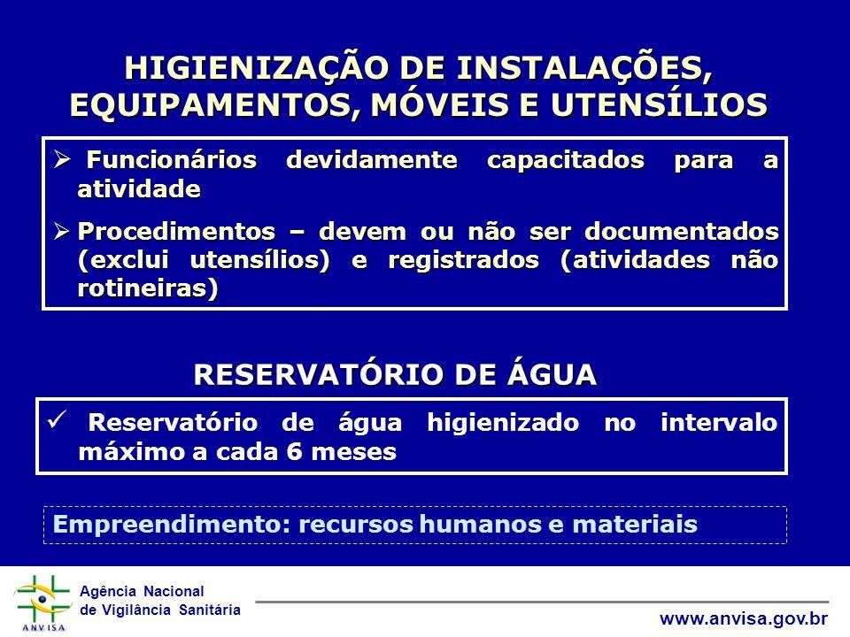 HIGIENIZAÇÃO DE INSTALAÇÕES, EQUIPAMENTOS, MÓVEIS E UTENSÍLIOS