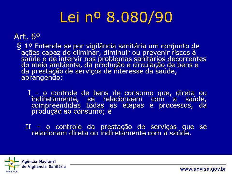 Lei nº 8.080/90 Art. 6º.