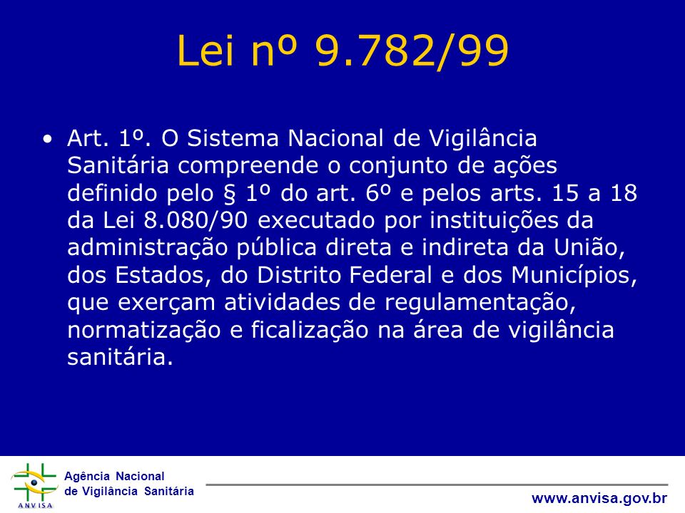 Lei nº 9.782/99