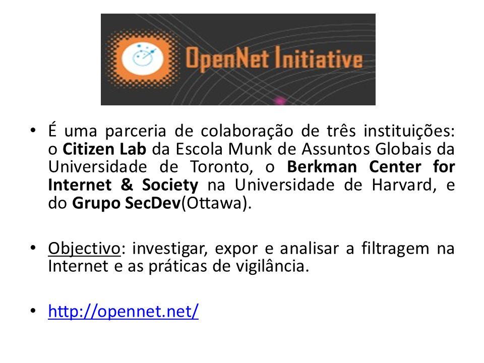 É uma parceria de colaboração de três instituições: o Citizen Lab da Escola Munk de Assuntos Globais da Universidade de Toronto, o Berkman Center for Internet & Society na Universidade de Harvard, e do Grupo SecDev(Ottawa).