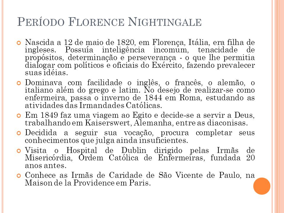 Período Florence Nightingale