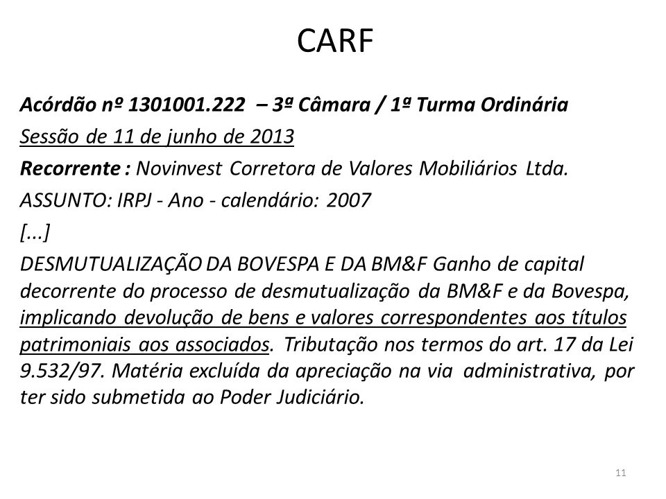 CARF Acórdão nº 1301001.222 – 3ª Câmara / 1ª Turma Ordinária