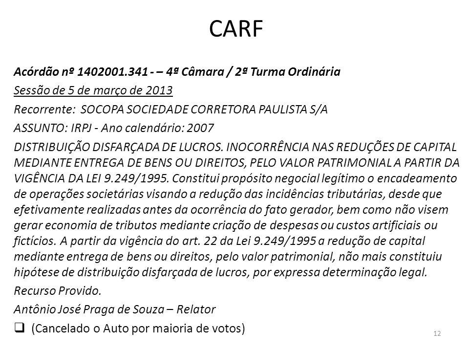 CARF Acórdão nº 1402001.341 - – 4ª Câmara / 2ª Turma Ordinária