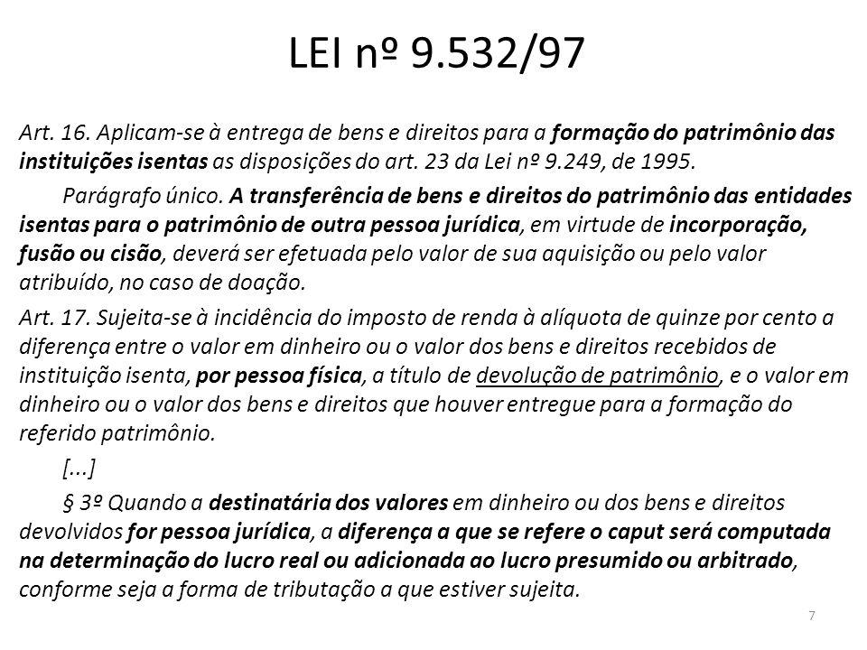 LEI nº 9.532/97