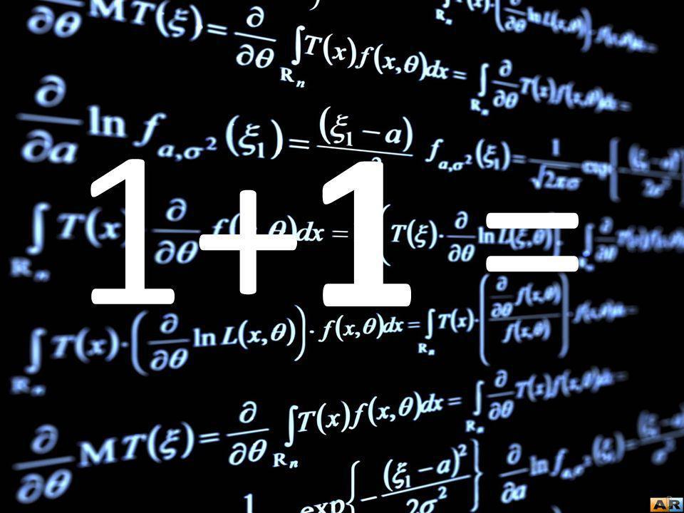 1 +1 =