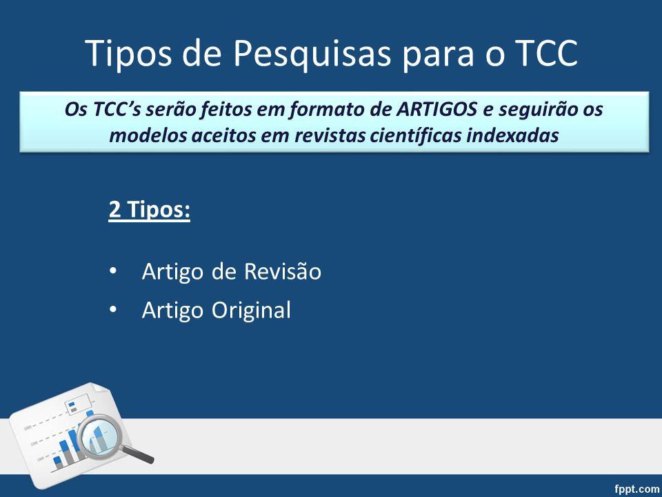 Tipos de Pesquisas para o TCC