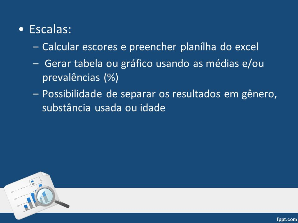 Escalas: Calcular escores e preencher planílha do excel