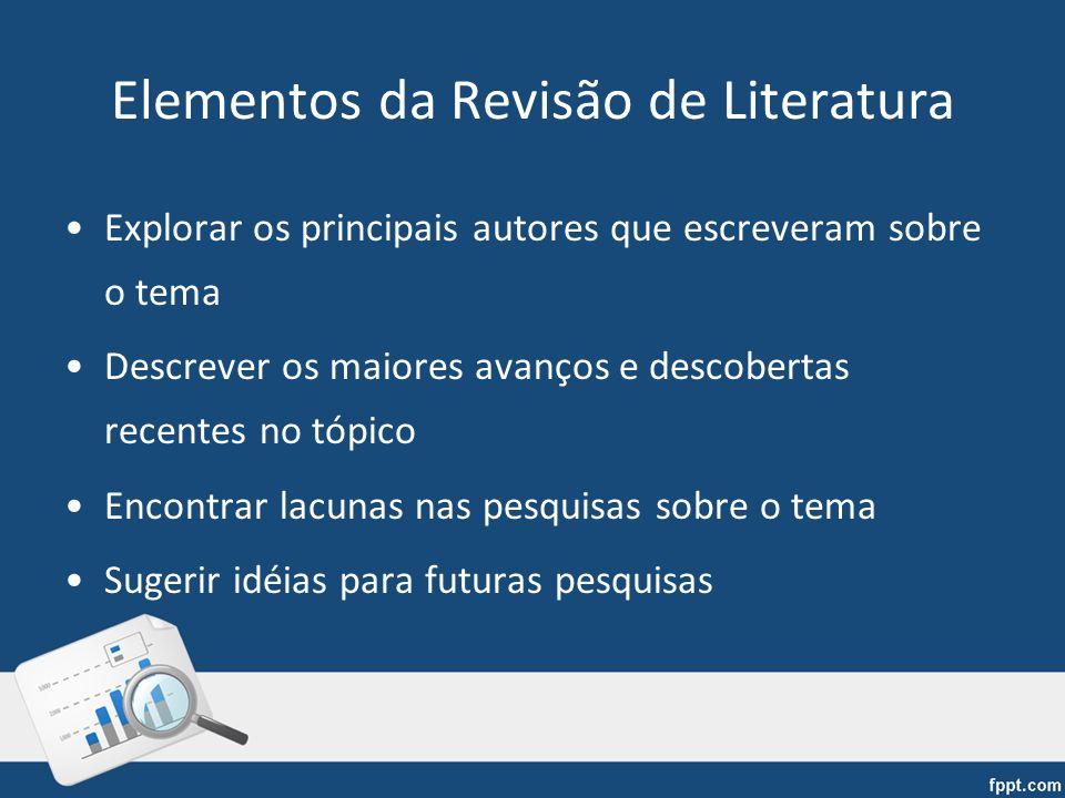Elementos da Revisão de Literatura