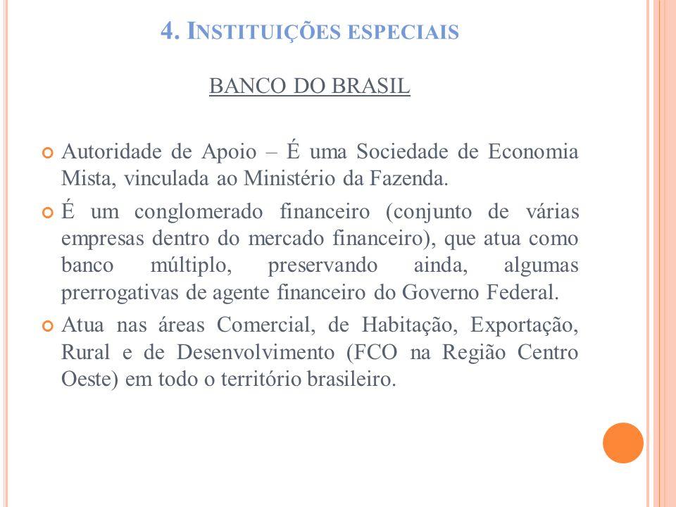 4. Instituições especiais