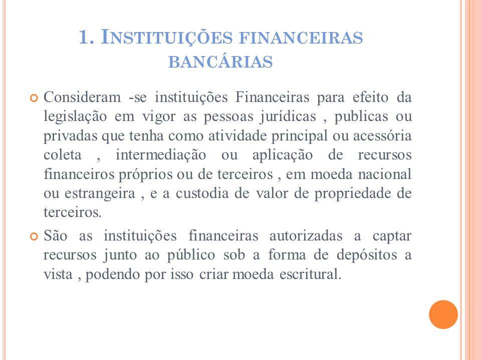 1. Instituições financeiras bancárias