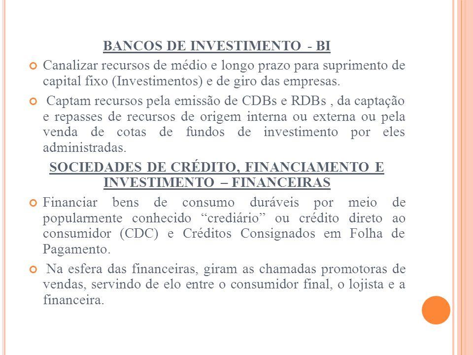BANCOS DE INVESTIMENTO - BI