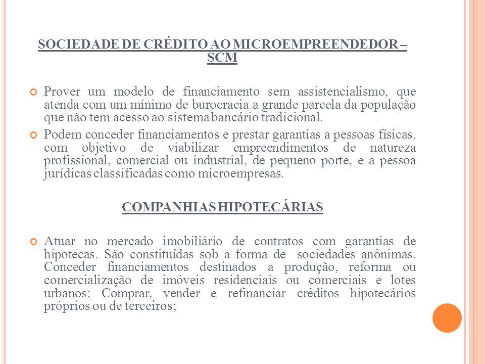 SOCIEDADE DE CRÉDITO AO MICROEMPREENDEDOR – SCM
